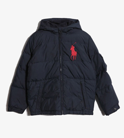 [중고] POLO BY RALPH LAUREN  JUMPER [폴로 다운 패딩 점퍼]  [KIDS L / Color - NAVY]