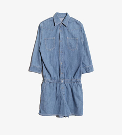 [중고] BEAMS HEART - BEAMS 데님 점프슈트  Women S / Color - Denim