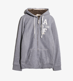 [중고] ABERCROMBIE & FITCH - 아베크롬비 후드 집업  Women L / Color - Gray