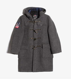 [중고] GLOVERALL - 키즈 글로벌올 더플 코트  Made In England  Kids 140 / Color - Charcoal