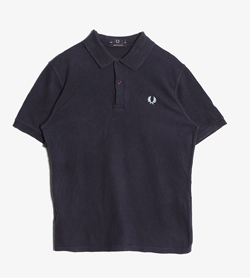 FRED PERRY - 프레드 페리 코튼 티셔츠  Made In England  Women M / Color - Navy