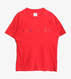 BENETTON - 베네통 코튼 티셔츠  Made In Italy  Women M / Color - Red