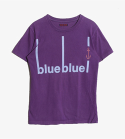 BLUE/BLUE - 블루블루 코튼 티셔츠  Women M / Color - Purple