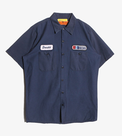 RED KAP - 레드 캡 코튼 혼방 셔츠  Made In Usa  Man M / Color - Navy