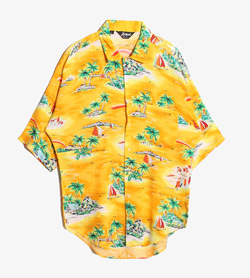HUTSPAH - 헛스파 하와이안 셔츠  Made In Usa  Man L / Color - Yellow