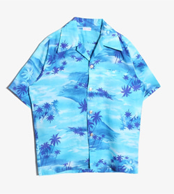 JPN - 빈티지 하와이안 셔츠  Made In Hawaii  Man L / Color - Sky Blue