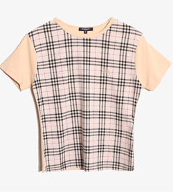 BURBERRY - 버버리 체크 티셔츠  Women M / Color - Check