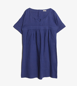 JPN - 린넨 원피스  Women M / Color - Blue