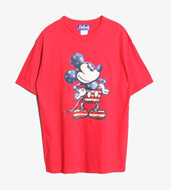 DISNEY - 디즈니 그래픽 티셔츠  Made In Usa  Man M / Color - Red