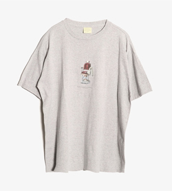 BANANA REPUBLIC - 바나나 리퍼블릭 그래픽 티셔츠  Made In Usa  Man M / Color - Gray