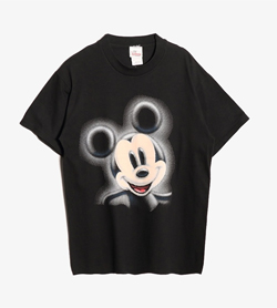 DISNEY - 디즈니 프린팅 티셔츠  Made In Usa  Man M / Color - Black