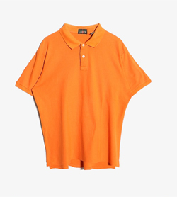 J CREW - 제이크루 베이직 Pk 티셔츠  Made In Singapore  Man L / Color - Orange