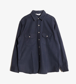 BLACK DUCK - 블랙 덕 코튼 셔츠  Made In Usa  Man M / Color - Navy