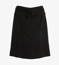 JPN -  폴리 스트링 스커트  Made In Italy  Women 28 / Color - Black