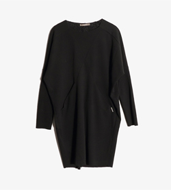 MARYLEY -  폴리 라운드 원피스  Made In Italy  Women M / Color - Black
