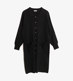 LADIES WEAR -  아크릴 밍크 롱 가디건  Women XL / Color - Black