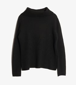 JPN -  메리노 울 터틀넥 니트  Made In Italy  Women L / Color - Black