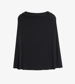 AGNES B - 아네스베 나일론 스커트  Made In France  Women 23 / Color - Black