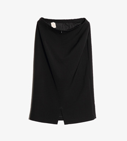 TESSUTO - 테스토 폴리 H라인 스커트  Made In Italy  Women 28 / Color - Black