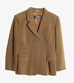 MAXMARA - 막스마라 울 포켓 자켓  Made In Italy  Women M / Color - Brown
