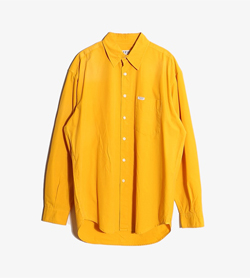 GUESS - 게스 코튼 오버핏 셔츠  Made In Italy  Man L / Color - Yellow