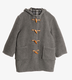 HARTINGDON HOUSE -  울 더플 코트  Made In England  Women M / Color - Gray