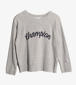 CHAMPION - 챔피언 코튼 맨투맨  Women Free / Color - Gray