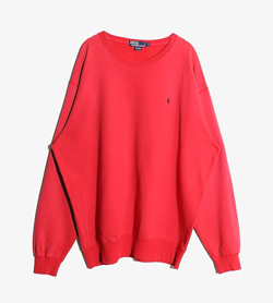 POLO BY RALPH LAUREN - 랄프로렌 코튼 맨투맨  Man XL / Color - Red