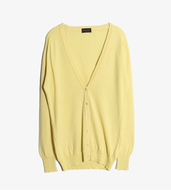 JOHN SMEDLEY - 존 스메들리 울 브이넥 가디건  Made In England  Man S / Color - Yellow