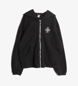 CHROME HEARTS - 크롬하츠 코튼 후드 집업  Made In Usa  Man L / Color - Black