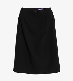 JPN -  폴리 스커트  Women M / Color - Black