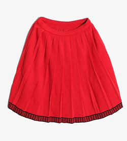 JPN -  아크릴 울 스커트  Women Free / Color - Red