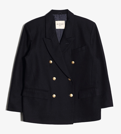 JPN -  울 더블 자켓  Women M / Color - Navy