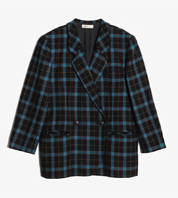 JPN -  울 체크 자켓  Women L / Color - Check