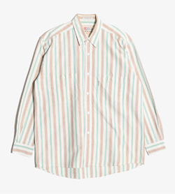 UME-COLLECTION -  코튼 스트라이프 셔츠  Man M / Color - Stripe