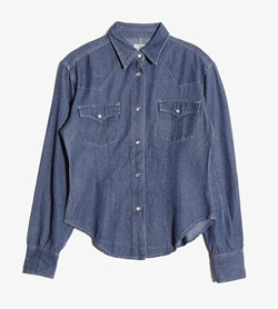 BRIGHT LIGHTS -  데님 웨스턴 셔츠  Women M / Color - Denim