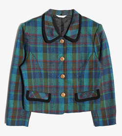 JPN -  울 체크 자켓  Women M / Color - Check