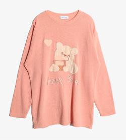 ELEMA DOTTI -  램스울 자수 니트  Made In Italy  Women M / Color - Pink