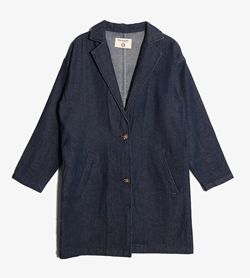 JPN -  데님 버튼 코트  Women M / Color - Denim