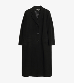 ALBERT NIPON -  울혼방 골드라벨 3버튼 코트  Made In Usa  Women L / Color - Black