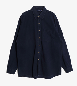 BON HOMME -  코튼 원포켓 셔츠  Made In Usa  Man L / Color - Navy