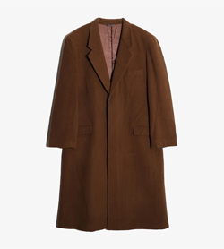 GIULIANO GROSSINI -  울 캐시미어 베이직 코트  Made In Italy  Man XL / Color - Brown