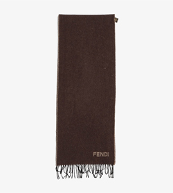 FENDI - 펜디 라나울 앙고라 머플러  Made In Italy  Unisex Free / Color - Brown
