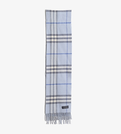 BURBERRY - 버버리 울 캐시미어 체크 머플러  Made In Scotland  Unisex FREE / Color - Check