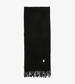 ROPE - 로페 울 머플러   Unisex Free / Color - Black