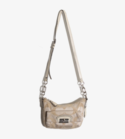COACH - 코치 가죽 크로스백   Women Free / Color - Beige