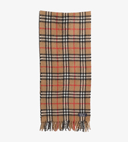 BURBERRY - 버버리 캐시미어 100% 체크 머플러   Made In Scotland  Unisex Free / Color - Check