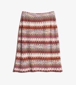 MISSONI - 미쏘니 린넨 레이온 패턴 스커트   Made In Italy  Women 22 / Color - Italy