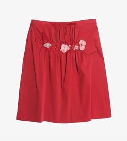 MOSCHINO - 모스치노 코튼 나일론 스커트   Made In Italy  Women L / Color - Red