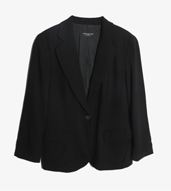 HILTON - 힐톤 울 블레이져   Made In Italy  Women M / Color - Black